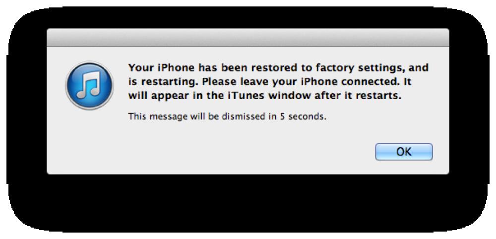 Click OK để tắt hộp thoại thông báo hoàn tất.